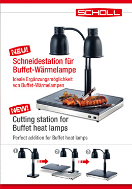Cutting station for Buffet heat lamps
