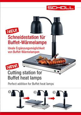 Schneidestation für Buffet-Wärmelampe