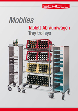 Mobiles! Tablett-Abräumwagen