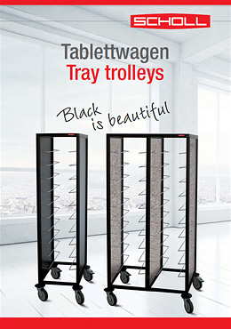 Tray trolleys Black is beautiful